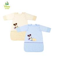迪士尼宝宝针织脱袖成长睡袋 新生儿童防踢被