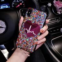 爱心苹果x手机壳全包防摔iphone7plus硅胶女闪粉8P时尚6s网红