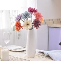 家居客厅装饰品摆件小清新水培花瓶玉质陶瓷简约现代白红色插花器