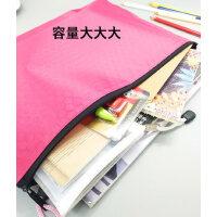 A3 A4足球纹文件袋票据球状帆布文件袋拉链袋A5资料袋定制logo
