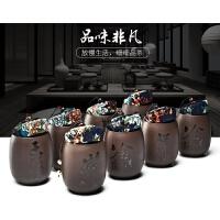 陶瓷茶罐小号普洱装茶叶盒便携迷你旅行存储密封罐家用