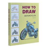 HOW TO DRAW MOTORCYCLES 如何画摩托 交通工具摩托车艺术绘画 美术绘画书籍