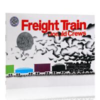 英文原版绘本 Freight Train火车快跑 Donald Crews凯迪克银奖 吴敏兰绘本123书单推荐 名家获