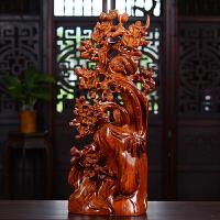 非洲花梨木雕喜上眉梢摆件雕刻工艺品家居客厅饰品摆设*品
