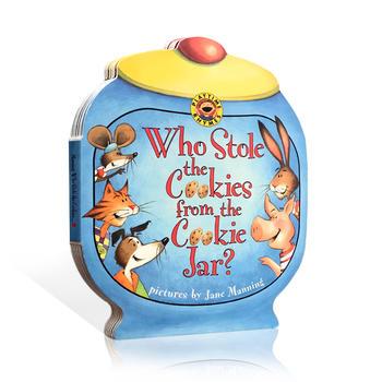 英文原版绘本 Who Stole the Cookies from the Cookie Jar? 谁从饼干罐里偷走了饼干 抽拉纸板书 亲子阅读