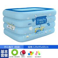 婴儿游泳池家用婴儿游泳池家用幼儿充气泳池保温加厚宝宝游泳桶新生儿童浴盆