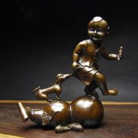 铜葫芦摆件 办公室客厅房间家居摆设 婚房创意结婚礼物 褐色
