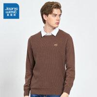 [满99减10元/满199减30元]真维斯男装 冬装新款 时尚假两件长袖毛衣