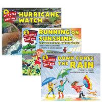 【全店300减110】英文原版进口分级阅读 自然科学 系列3本 Hurricane Watch 分级阅读 3-5岁 平装