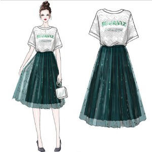 安妮纯俏皮套装女两件套bf夏2019新款港风春季连衣裙小清新夏季心机裙子