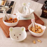 陶瓷碗宝宝家用吃饭碗汤碗可爱儿童碗筷套装学生早餐碗勺餐具