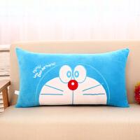 卡通毛绒玩具抱枕长条枕娃娃睡觉枕头可爱公仔床上儿童生日礼物女 湖蓝色 正脸机器猫