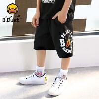 【4折价:107.6】B.Duck小黄鸭童装男童短裤针织5分裤 BF2052905