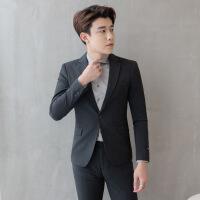 西装男套装修身韩版青少年商务正装男士西服休闲帅气新郎结婚礼服