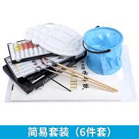 18色24色36色水粉颜料12件工具套装箱+画笔+画纸水粉画颜料工具箱套装少儿美术培训初学者学生
