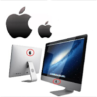 苹果手机标志贴苹果LOGO金属标志贴纸 iMAC一体机电脑显示器DIY金属标志装饰贴纸