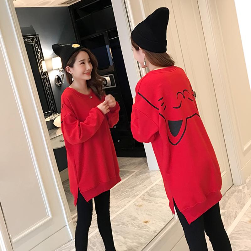 孕妇冬装套装加绒秋冬季孕妇卫衣两件套上衣时尚潮妈2018新款