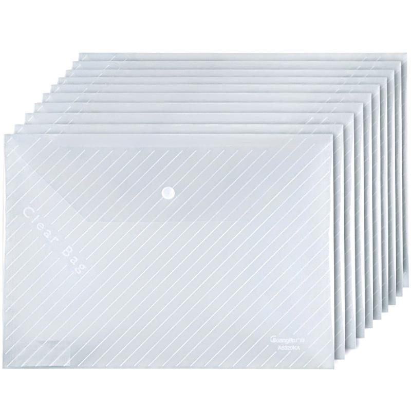 广博(GuangBo)10只装A4透明文件袋/按扣档案袋/资料袋 A6320KA当当自营