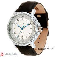 聚利时Julius 手表男韩国时尚潮流螺旋纹 石英表 男表石英时装表