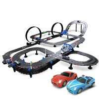 儿童玩具跑汽车赛道套装路轨道赛车双人电动手摇遥控赛车
