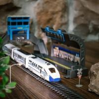 益智电动高铁小火车轨道仿真和谐号动车模型儿童男孩玩具礼物套装