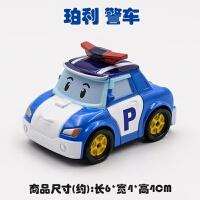 珀利POLI警长机器人清洁车铲车工程车巴士非变形玩具合金车