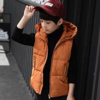 男童马甲秋冬季2018中童冬装羽绒棉背心儿童外穿学生连帽外套