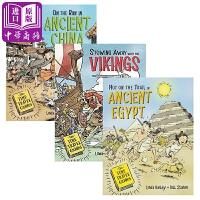【中商原版】时间旅行者系列3册 英文原版 The Time Travel Guides 古中国 维京 古埃及