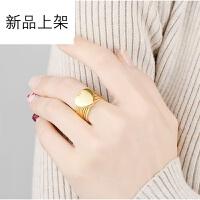 爱心戒指女魔戒2018年网红抖音同款一体手环手链镀18K金戒指手镯两用 520礼物