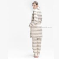 季情侣款男士女士加厚珊瑚绒法兰绒家居服套装睡衣睡袍两件套