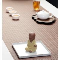小和尚茶宠创意宜兴紫砂摆件可养功夫茶具陶瓷手工小沙弥佛