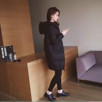 慈姑原宿冬季女中长款韩版新款连帽棉衣加厚保暖ulzzang棉袄外套