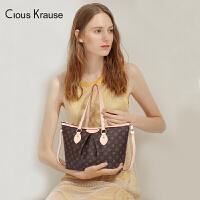 【1件3折,到手价:125.4元】Clous Krause ck包包新款时尚经典复古优雅单肩包百搭印花手提包欧美风格女