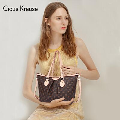【1件3折,到手价:125.4元】Clous Krause ck包包新款时尚经典复古优雅单肩包百搭印花手提包欧美风格女士手提单肩斜跨包 全场下单1件3折!全场包邮!