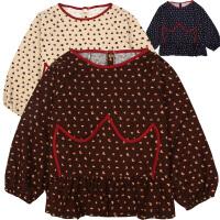 儿童冬季女孩防水围兜宝宝围裙画画衣小孩长袖吃饭罩衣护衣