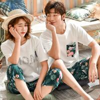夏季女短袖棉韩版可爱夏天薄款全棉家居服两件套装