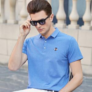 2019夏季男士短袖T恤纯色翻领 大码保罗衫男装加大加肥半袖POLO衫体恤
