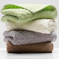 三利 纯棉素雅毛巾2条装 32×74cm 情侣款柔软吸水洗脸面巾