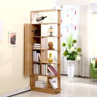 百意空间 简约现代组合书柜书架玄关柜酒柜多功能柜客厅双面隔断柜定制