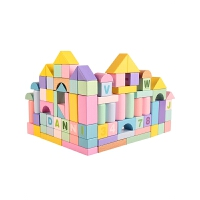 儿童积木玩具1-2周岁3-6岁婴儿宝宝拼装男孩女孩大块木制玩具