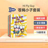 英文进口原版 hi Fly Guy 苍蝇小子15本绘本 全彩英语初级章节桥梁书 5-6-7-8-9岁增强想象力培养孩子独立习惯儿童趣味英语读物