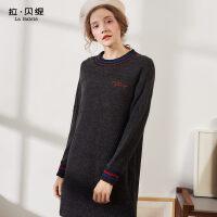 2018秋冬季新款韩版包臀针织一步裙子长袖中长款打底毛衣连衣裙女