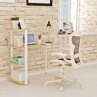 [当当自营]慧乐家 电脑桌 时尚一体式电脑书桌 简易书桌写字台学习桌办公桌笔记本桌 竹木纹色 22155