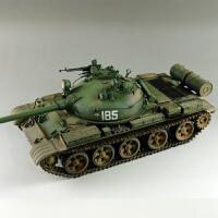 拼装坦克模型1/35苏联T62主战坦克1972坦克世界(需要自己拼装)