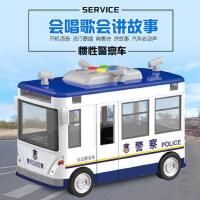 警车玩具回力合金小汽车儿童玩具车模型仿真男孩警察车大急救车