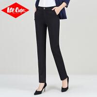 Lee Cooper商务休闲裤女职业西裤新款显瘦纯色百搭弹力哈伦长裤子女裤
