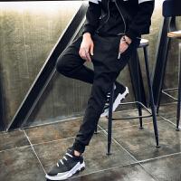 新款小脚韩版修身束脚裤男裤子男士夜店发型师个性哈伦裤长裤潮流