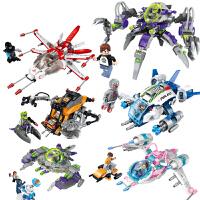 男孩启蒙智力拼装插积木宇宙外星球儿童玩具模型飞船
