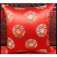 中式抱枕红木沙发靠垫圈椅茶椅腰枕古典办公室靠背布套