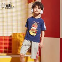 小虎宝儿童装男童运动套装夏季新款中大童短袖短裤儿童舒适两件套